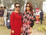 Arooj and Hina Salman. Vintage & Classic Car Club of Pakistan present a classic car show in Lahore. PHOTOS COURTESY SAVVY PR