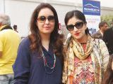 Ayesha and Sadia Omer. Vintage & Classic Car Club of Pakistan present a classic car show in Lahore. PHOTOS COURTESY SAVVY PR