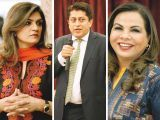 Fayeeza Naqvi, Shazad Dada and Fawzia Naqvi. Fayeeza Naqvi launches AmanLeaders in Karachi. PHOTOS COURTESY AMAN FOUNDATION