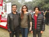 Khurram, Ayesha and Shahbaz. Vintage & Classic Car Club of Pakistan present a classic car show in Lahore. PHOTOS COURTESY SAVVY PR