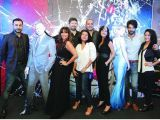 Nubain Ali, Frieha Altaf, Samia Achria, Tapu Javeri, Deepak Perwani, Sadaf Malaterre, Adnan Malik and Tara Mehmood. James Bond film Spectre premieres in Karachi. PHOTOS COURTESY  WALNUT COMMUNICATIONS