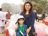 Raza and Sofia. Vintage & Classic Car Club of Pakistan present a classic car show in Lahore. PHOTOS COURTESY SAVVY PR