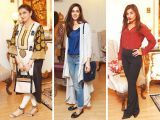 Rubia Moghees, Mariam Mushtaq and Mantaha Maqsood. Asifa and Nabeel launch Lifestyle Couture in Lahore. PHOTOS COURTESY SAVVY PR