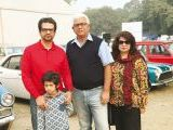 Saad, Rayaan, Asad and Sobia. Vintage & Classic Car Club of Pakistan present a classic car show in Lahore. PHOTOS COURTESY SAVVY PR