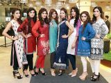 Ayesha, Hina, Aqsa, Kanwal, Natasha, Dania, Hannah and Batool. Studio One launches in Lahore - PHOTOS COURTESY BILAL MUKHTAR EVENTS & PR