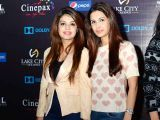 Fatima and Meher. Cinepax Cinema launches with the screening of Tamasha in Lahore - PHOTOS COURTESY BILAL MUKHTAR EVENTS & PR