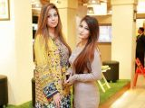 Hiba and Mahnoor. Studio One launches in Lahore - PHOTOS COURTESY BILAL MUKHTAR EVENTS & PR