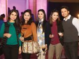 Minahil, Sana, Uzma, Saman and Saqib. Cinepax Cinema launches with the screening of Tamasha in Lahore - PHOTOS COURTESY BILAL MUKHTAR EVENTS & PR