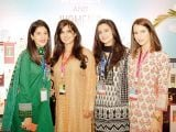 Saba Magsi, Mehvesh Zulfiqar, Mahrukh Isa and Maniha Isa. Enclude celebrates its WomenX programme in Karachi - PHOTOS COURTESY CATWALK PR