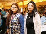 Saba Makhmoor and Yasmeen Zaman. Enclude celebrates its WomenX programme in Karachi - PHOTOS COURTESY CATWALK PR