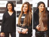 Amber Javed, Sabeen Khan and Kiran Butt. Naz Mansha lanches INGLOT in Islamabad. PHOTOS COURTESY REZZ PR AND SAVVY PR