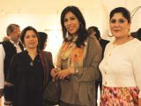 Anoushe Alam and Angie Marshal with a friend. KMC's cultural department hosts an exhibition at Sadequain Gallery in Karachi. PHOTOS COURTESY PHENOMENA PR