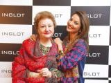 Begum Aliya and Natasha Hussain. Naz Mansha lanches INGLOT in Islamabad. PHOTOS COURTESY REZZ PR AND SAVVY PR