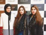 Lilly, Fatima and Manal. Naz Mansha lanches INGLOT in Islamabad. PHOTOS COURTESY REZZ PR AND SAVVY PR