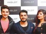 Mustafa, Bilal, Arooba and Samya Mir. Naz Mansha lanches INGLOT in Islamabad. PHOTOS COURTESY REZZ PR AND SAVVY PR