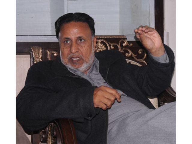 Leader of Opposition in the Punjab Assembly Mehmoodur Rasheed. PHOTO: EXPRESS