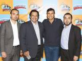 Atif Husain, Jahangir Khan, Younis Khan and Shoaib Feroz. Fireball launches Chunky Monkey amusement park in Karachi. PHOTOS COURTESY ANASTASIA PR