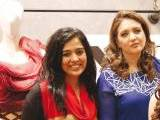 Basra Rizvi and Sadaf Kamal. Natasha Kamal launches her label in Karachi. PHOTOS COURTESY IMPERIAL MANAGEMENT SERVICES