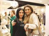 Komal Malik and Nazneen Tariq. Natasha Kamal launches her label in Karachi. PHOTOS COURTESY IMPERIAL MANAGEMENT SERVICES