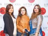 Nayaab, Samya and Shumaila. Farooq Owais launches Little Asia restaurant in Islamabad. PHOTOS COURTESY REZZ PR & EVENTS