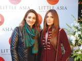 Nosheen Sultan and Sadia Khawaja. Farooq Owais launches Little Asia restaurant in Islamabad. PHOTOS COURTESY REZZ PR & EVENTS