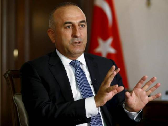 Turkey's Foreign Minister Mevlut Cavusoglu answers a question during an interview with Reuters in Ankara. PHOTO: REUTERS
