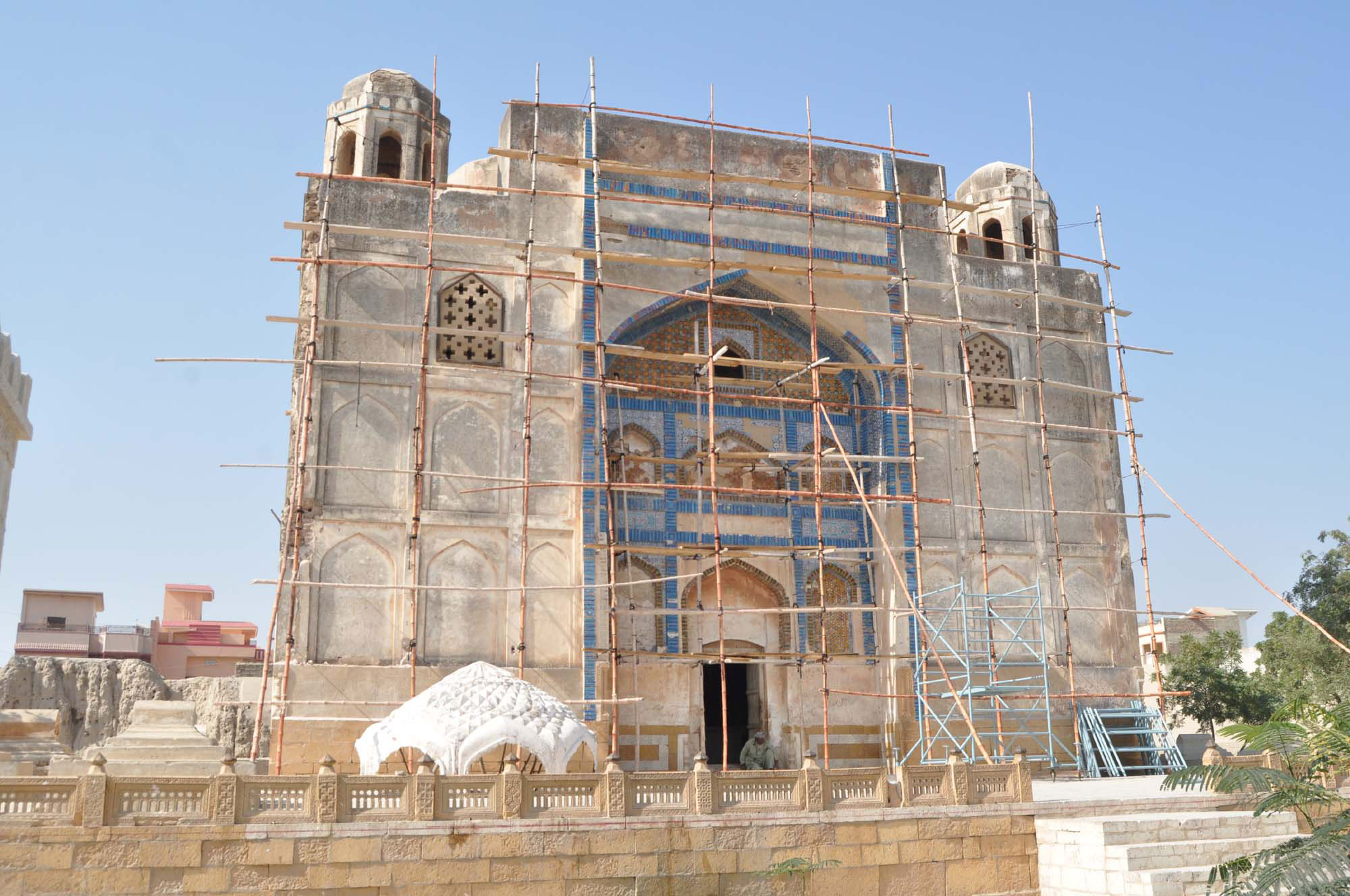 Around six months ago, Endowment Fund Trust embarked on a journey to restore an 18th century mausoleum of the Kalhoro dynasty's ruler Mian Ghulam Shah Kalhoro, the man who founded Hyderabad. PHOTO: Z ALI/EXPRESS