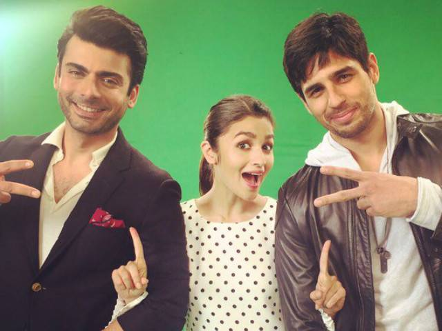 Fawad also made his Dubsmash debut alongside Alia and the birthday boy! PHOTO: TWITTER