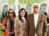 HALLAH WALLAH: Mehwish, Ayesha and Sardar Farooq Ahmed Ali