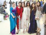 SIGNED AND SEALED: Purniya, Zainab, Zainab, Natasha and Sana with a Guest