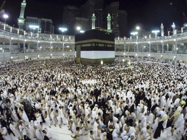 Muslim pilgrims pray around holy Kaaba during the annual Hajj pilgrimage in Makkah October 1, 2014. PHOTO: AFP