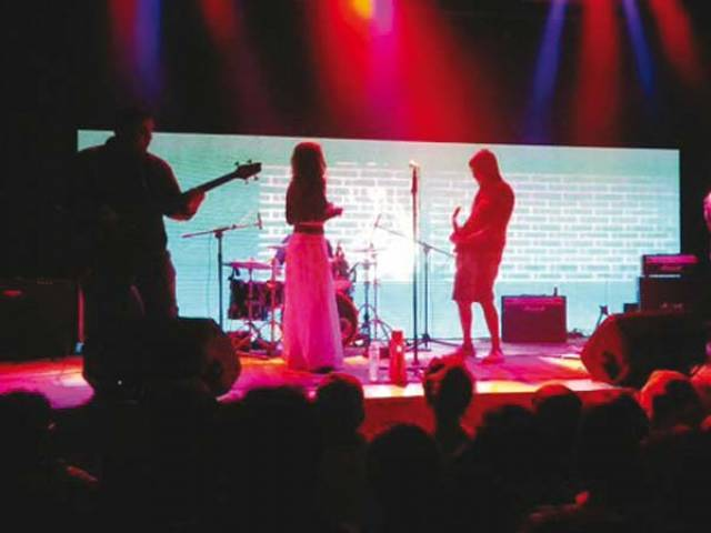 The five-member band took centre stage in the presence of a select coterie of music enthusiasts. PHOTO: PUBLICITY