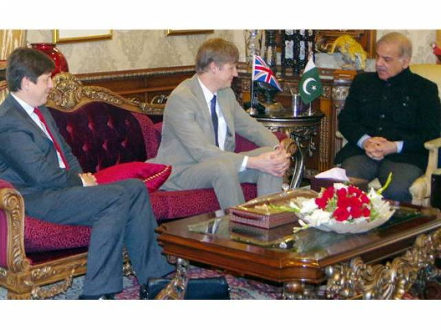 British National Security director calls on Shahbaz Sharif. PHOTO: INP
