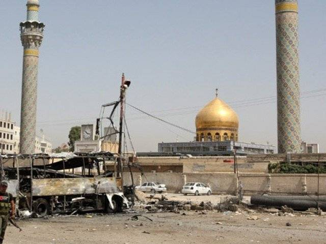 The Syrian government accuses rebels of targeting Sayyeda Zainab shrine, which is now protected by hundreds of fighters from Iraq and the powerful Lebanese Hezbollah group. PHOTO: AFP
