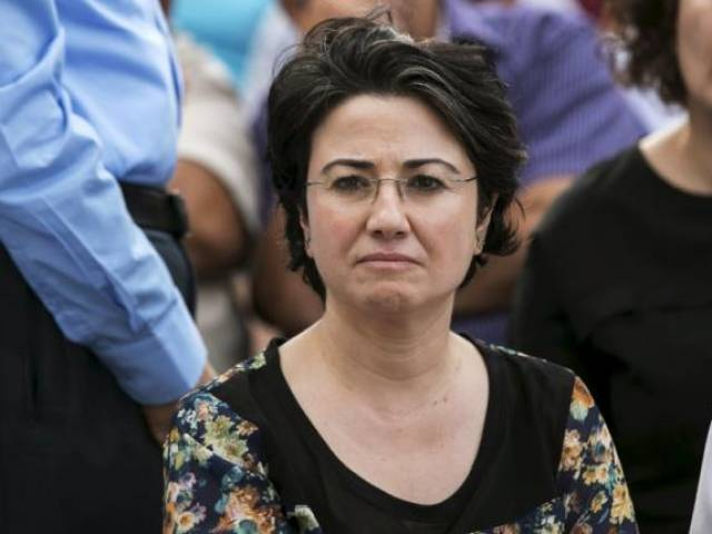 Hanin Zoabi, a legislator from the Joint Arab List, participates in a pro-Palestinian demonstration in the northern Israeli town of Sakhnin, in this October 13, 2015 file picture. PHOTO: REUTERS