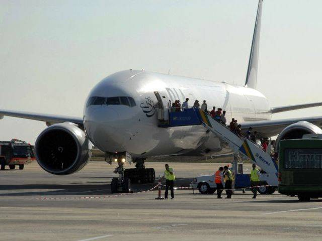 First domestic flight, PK-308, took off on Tuesday, which left Karachi for Islamabad. PHOTO: REUTERS