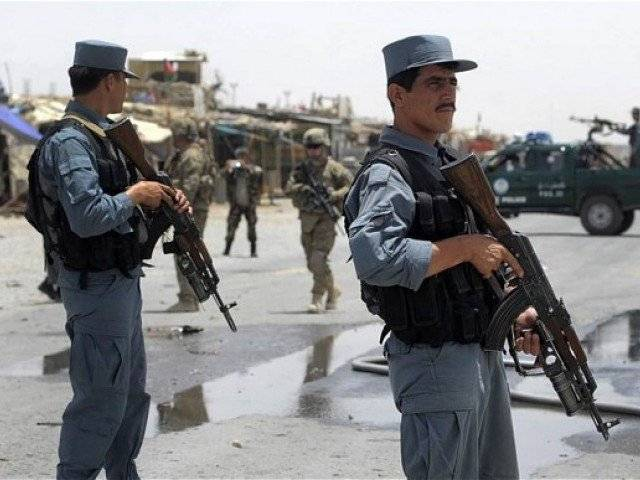 A file photo of Afghan police personnel. PHOTO: AFP
