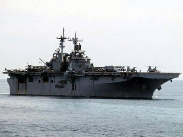 A USS Boxer LHD travels at an offshore location in Goa October 29, 2006. PHOTO: REUTERS