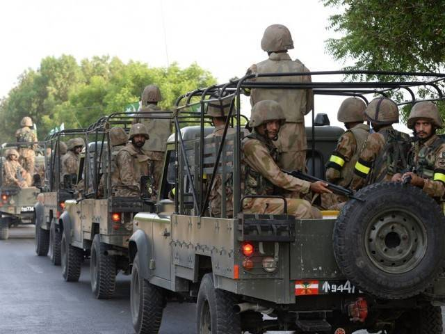 A file photo of the Pakistan Army. PHOTO: AFP