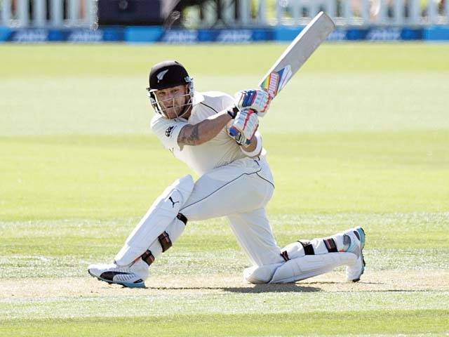 McCullum has been an integral part of New Zealand's recent upsurge and has featured for the Black Caps in 100 Tests so far, making 6,283 runs. PHOTO: AFP