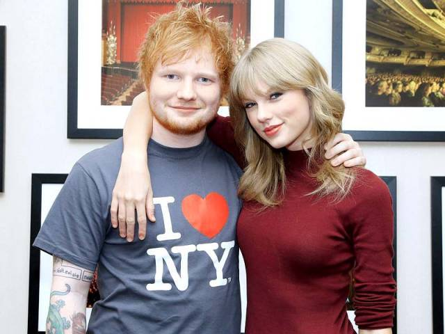 Apart from being a good friend, Sheeran has also been a source of inspiration for Taylor. PHOTO: FILE