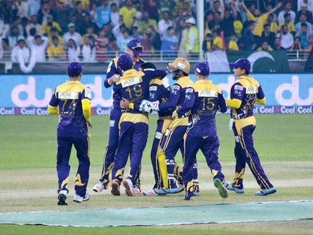 Quetta defeated tournament favourites Peshawar by just one run in arguably the most gripping match of the tournament to secure their place in the final. PHOTO COURTESY: PCB