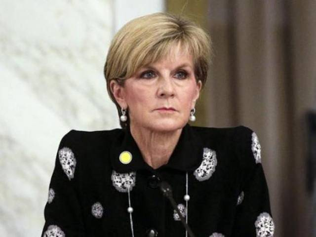 Australian Foreign Minister Julie Bishop. PHOTO: REUTERS