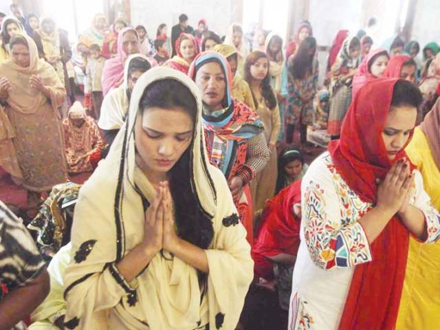 Worshippers gather for prayers at Don Bosco Church. PHOTO: SHAFIQ MALIK/EXPRESS