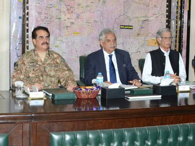 Gen Raheel was told during Apex Committee meeting about progress in last phase of Shawal operation, TDPs resettlement. PHOTO: ISPR