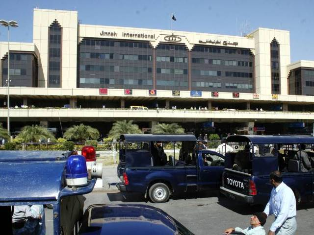 A file photo of Karachi airport. PHOTO: PPI