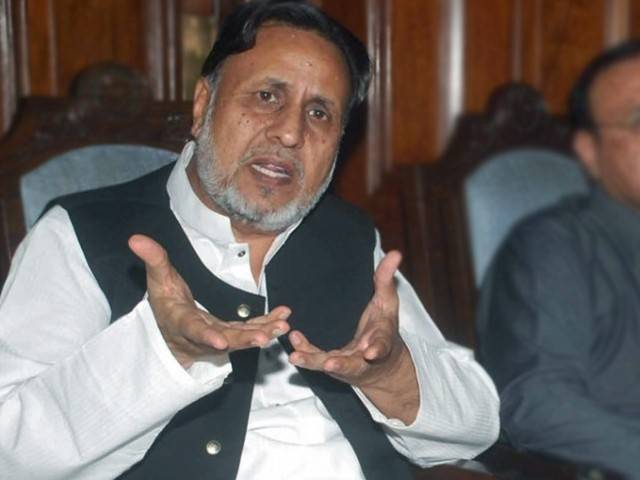 Leader of Opposition in the Provincial Assembly Mian Mehmoodur Rasheed. PHOTO: NNI/FILE