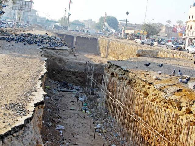 Work on the Golimar Underpass, which was initially going to be a flyover, kicked off in April last year. PHOTO: FILE