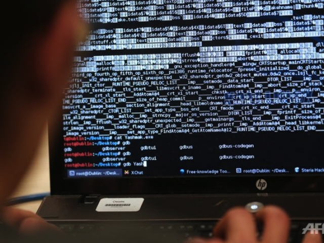 As much as 600MB of data was put up online by the alleged hacker for download. PHOTO: AFP