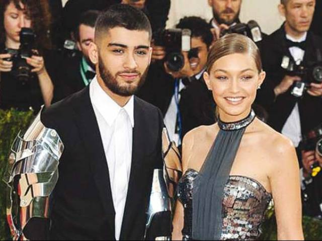 Zayn and Gigi made their red carpet debut at the Met Gala this year. PHOTO: FILE